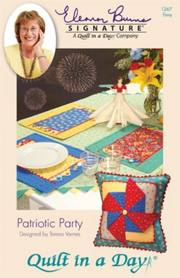 Patriotic Party Placemat/Pillow Pattern by Quilt in a Day
