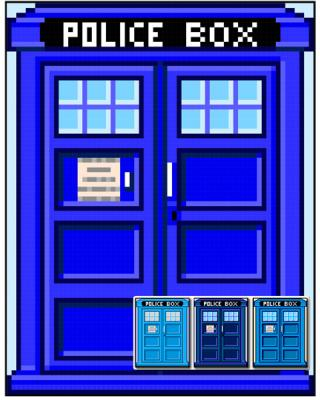 British Police Box Quilt Pattern by the Many Pieces Theory