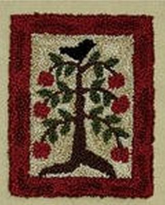 Apple Tree Punchneedle Embroidery Pattern ROG-5106P