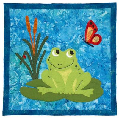 Francois Frog Quilt by Spring Creek NeedleArt