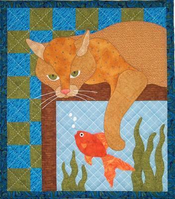 Aquarium Kitty by Spring Creek NeedleArt