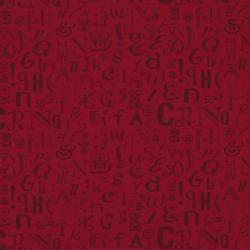 2130-003 The Chalk Line - Chalk Letters - Red Fabric