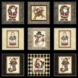 RJR Fabrics Holly Jolly - Christmas Town 5/8 yd Panel