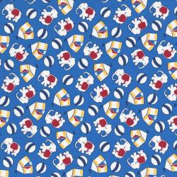 2508-001 Everything But The Kitchen Sink XI - Novelty Circus - Blue Fabric