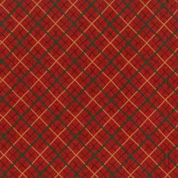 Christmas Remembered - Ribbon Plaid - Berry Fabric