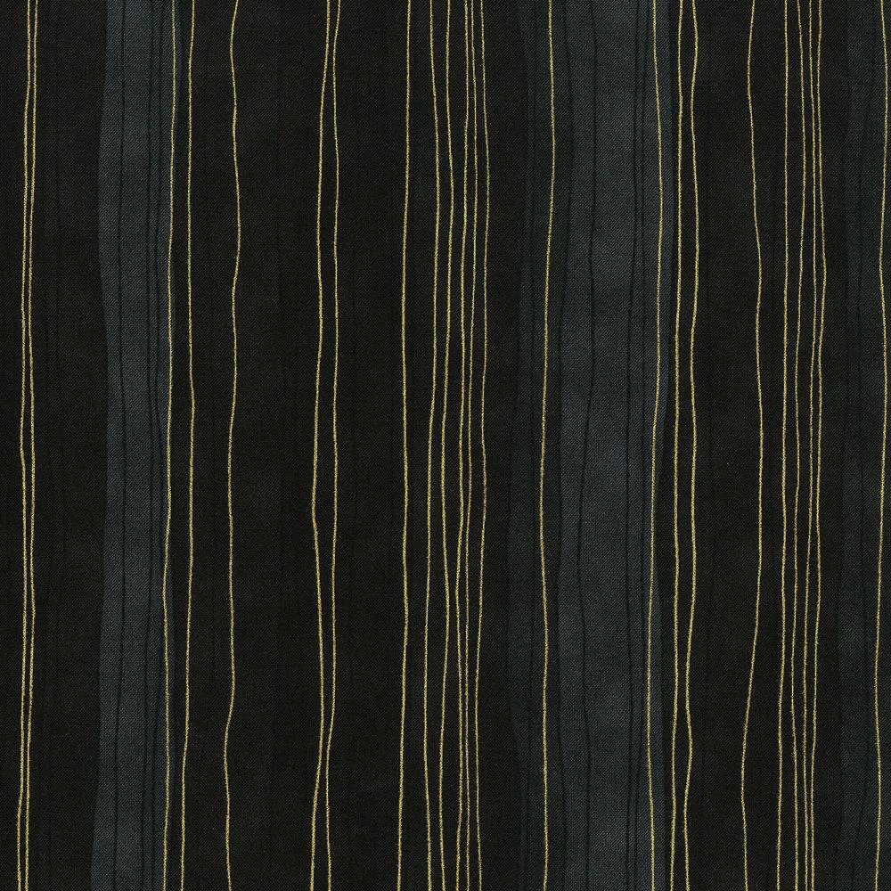 Shiny Objects- Precious Metalssterling stripes - onyx metallic