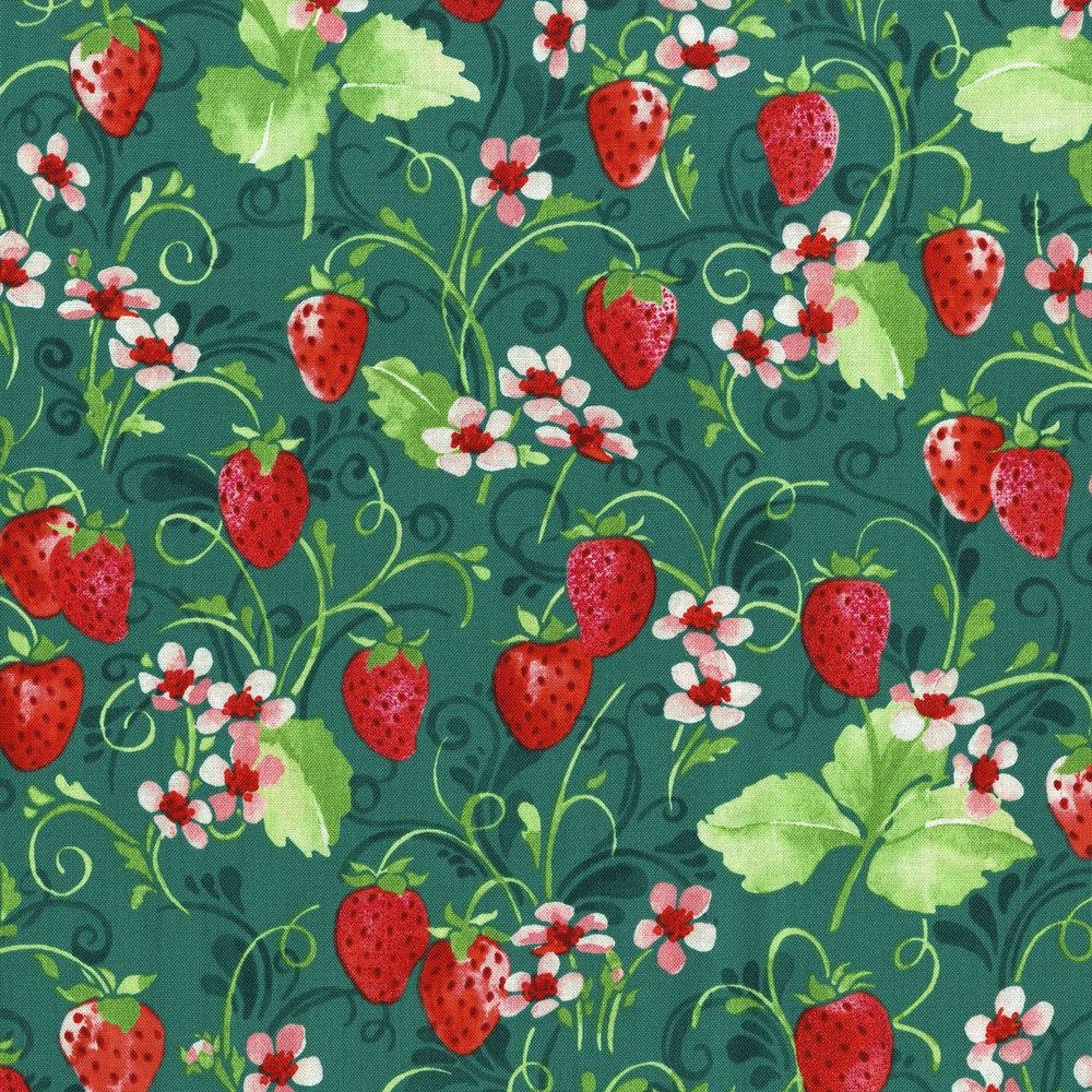 Sugar Berry Strawberries on Green