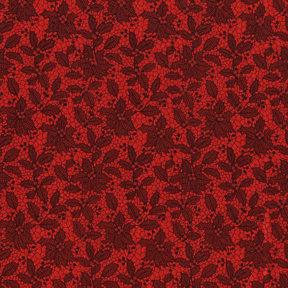 Let It Sparkle-Holiday Lace-Crimson