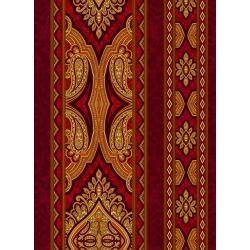 Aruba - Border - Crimson Fabric - 3578-003