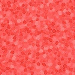 Hopscotch - Flower Power - Flamingo Fabric