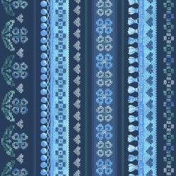 FF201-DE2M Blue Belle Denim Metallic Fabric