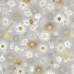 Shiny Objects: Good as Gold - English Daisies, Pebble Metallic by Flaurie & Finch for RJR