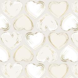 Shiny Objects - Good as Gold - Locket - Pearl Metallic Fabric
