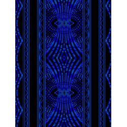 JB200-SA2 Andalucia - Border Stripe - Sapphire Fabric