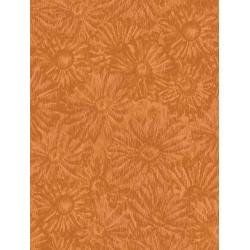 JB202-KU6 Andalucia - Daisies - Kumquat Fabric