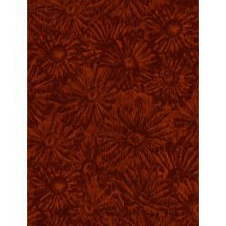 JB202-RU7 Andalucia - Daisies - Rust Fabric