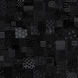 Heavy on the Metal - Rebel Quilter - Black Dress Metallic Fabric