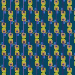 KK102-TE1 Floret Geometric - Avenue G - Teal Fabric