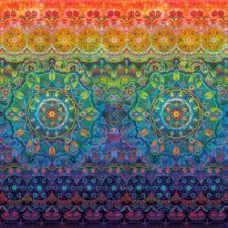 Flourish Woven Rainbow Digiprint Panel (24)/Multi