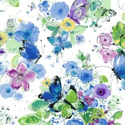 Bloom Bloom Butterfly - Meadowland - Iris Fabric