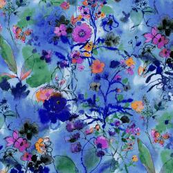 RJ1202-TW3 Bloom Bloom Butterfly - Wild Meadow - Twilight Fabric