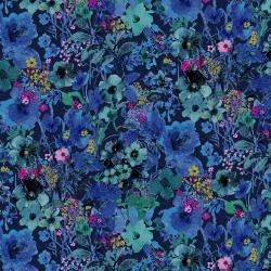 RJ1203-MI3 Bloom Bloom Butterfly - Midnight Fabric!