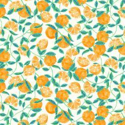 F-CB-RJR-CTG-03  RJR-CTG - Citrus Garden-03-Ivory w/ Tangerines