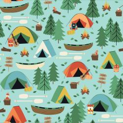 Camping Crew - Campground - Sky Fabric