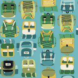 Camping Crew - Backpacks - Sky Fabric