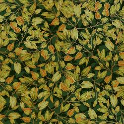 Shades of Autumn - Dancing Leaves - Forest - Metallic - 30130-009