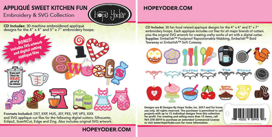 Applique Sweet Kitchen Fun Embroidery Collection