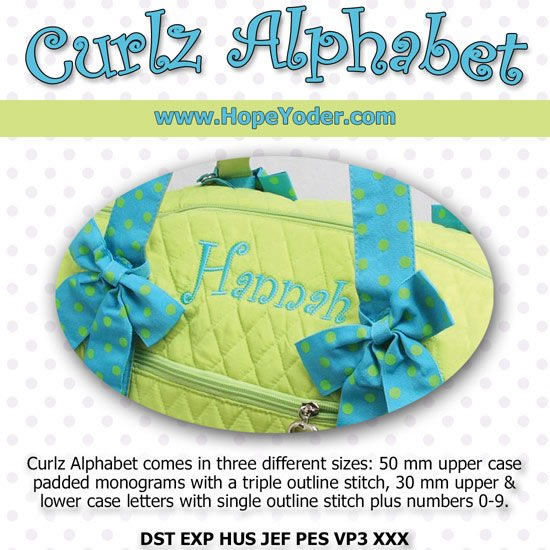 HY CURLZ MONOGRAM EMBROIDERY CD/SVG FILES