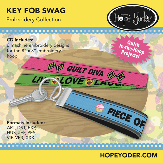 HY KEY FOB SWAG EMBROIDERY CD/SVG FILES