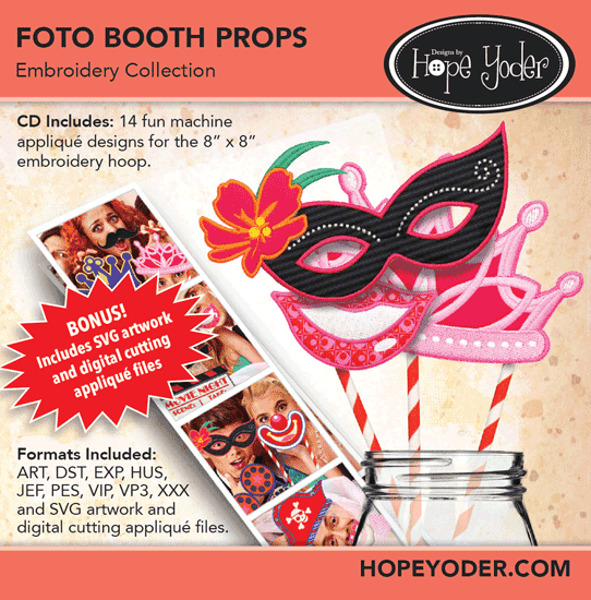 HY FOTO BOOTH PROPS EMBROIDERY CD/SVG FILES - 653341490407