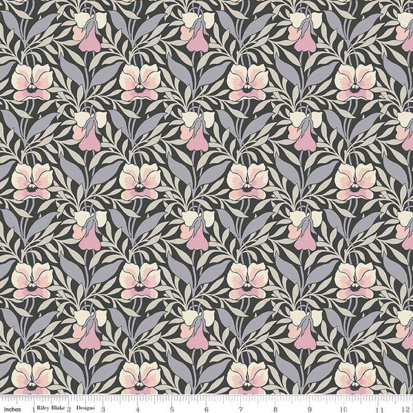 The Hesketh House Collection Harriet's Pansy Pink/Gray
