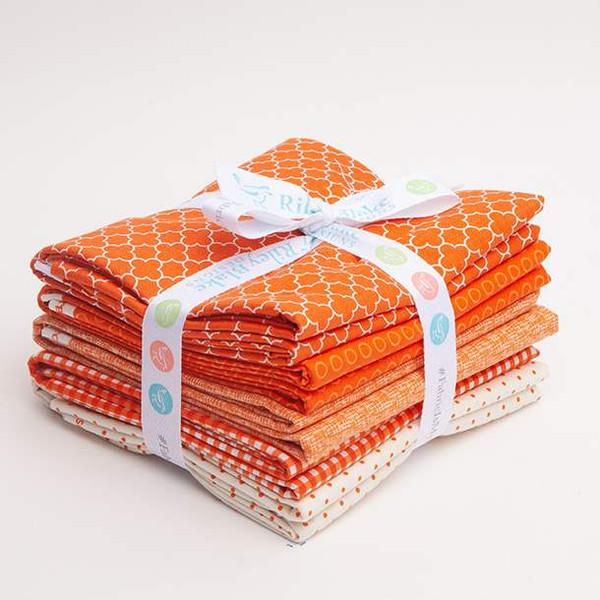 5 One yard Cuts Orange Curated fabric by Riley Blake