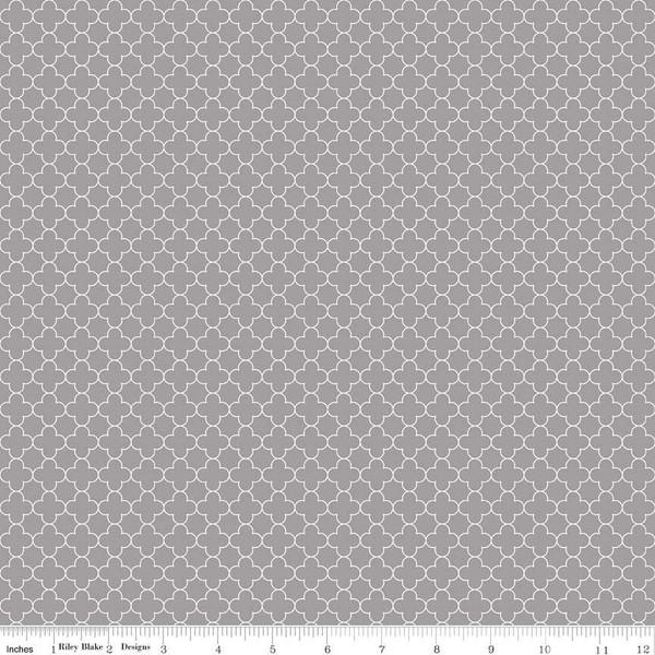 Quatrefoil Mini Gray