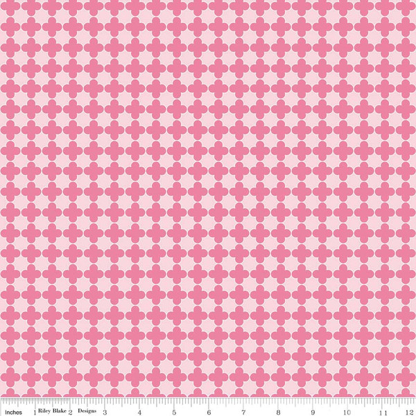 Quatrefoil Mini Pink/Hot Pink