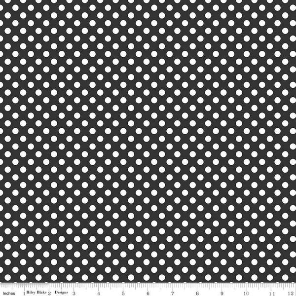Dots Sm C350-110 BLACK Riley Blake