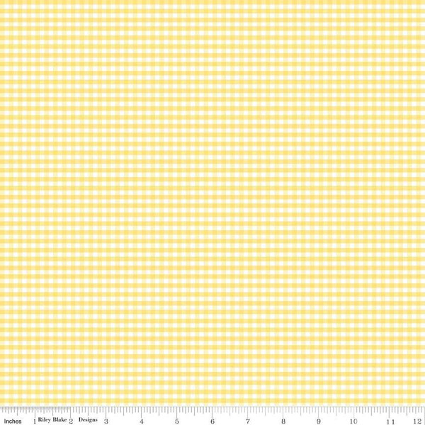 1/8 inch Small Gingham Check Yellow