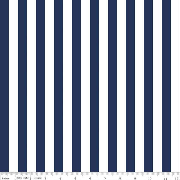 1/2 Stripe Navy C530 21