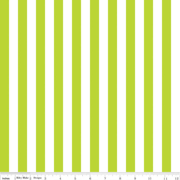 1/2 Stripe Lime C530 32