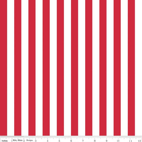 1/2 Stripe Red C530 80