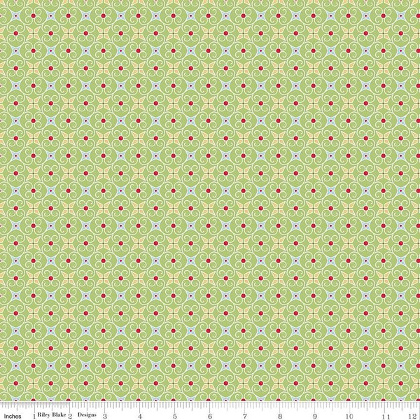 Cozy Christmas Wrapping Paper Green