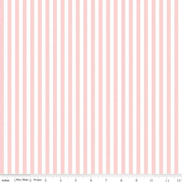 1/4 Stripe Baby Pink C555