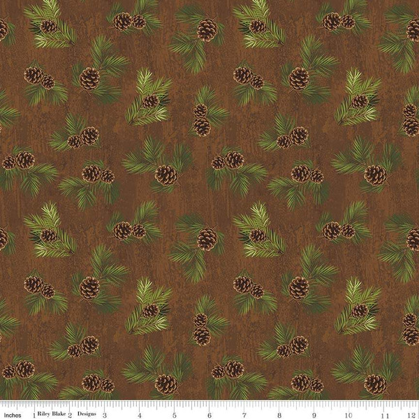 Riley Blake Designs: Penny Rose Fabrics- Majestic Outdoors C5574 Brown
