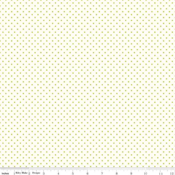 Le Creme Swiss Dot Lime by Riley Blake C600-32