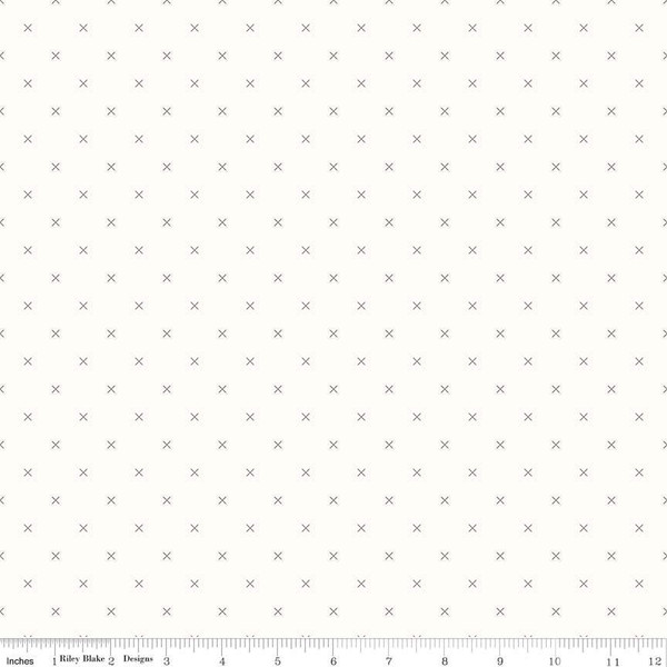 Bee Backgrounds Cross Stitch Gray, fat quarter
