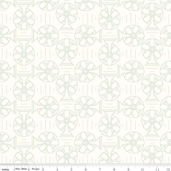Bee Backgrounds Cool Green  by Lori Holt C6390