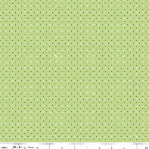 Bee Basics Polka Dot Green, fat quarter